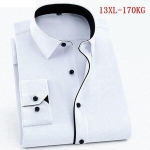 Женская рубашка большого размера с длинным рукавом большого размера плюс 10XL 11XL 12XL 13XL офисная удобная летняя белая рубашка с отворотом 9XL