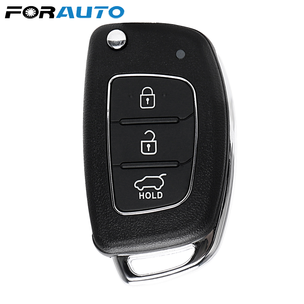 FORAUTO Car Key Remote Key Case Fob Shell Replacement 3 Buttons For Mistra Hyundai Solaris Ix35 Ix45 Verna Santa Cover Case