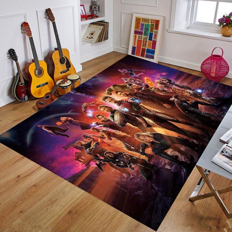 Cartoon Marvel Superhero Door Mat Baby Playmat Rug Captain America Carpet Floor Bedroom Doormat Non-slip Mat Cartoon Gift
