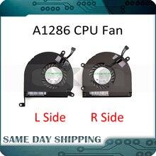 """Nowy!!! A1286 lewy prawy boczny wentylator procesora dla Apple MacBook Pro 15 """"zestaw wentylatora procesora A1286 2008 2009 2010 2011 2012 lat"""