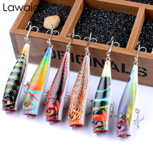 Lawaia Fishing Lures Lu Ya New Painted Painting Series Bionic Bait Wave 9cm/14.4g Water Surface Color Send It Random