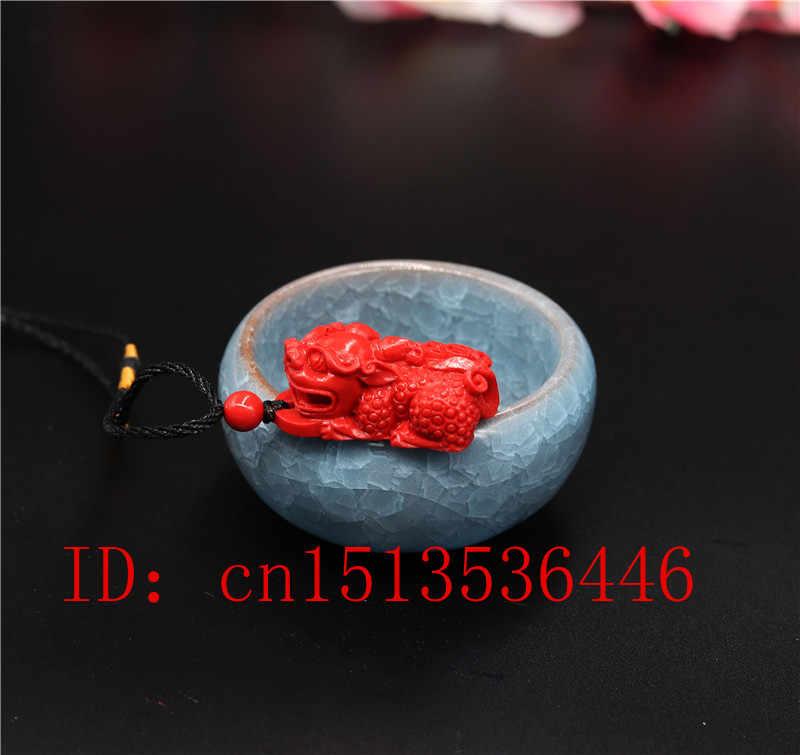 中国の天然赤色有機朱色ドラゴンネックレスペンダント貔貅チャームジュエリーファッション男ラッキーお守りギフト