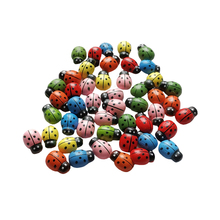 Decoration-Supplies Moss Flower-Pot Bonsai-Crafts Wooden Micro Ladybug Star Seven 12pcs