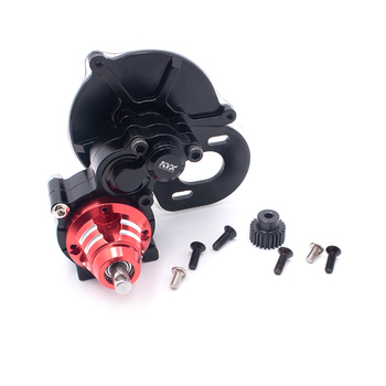 Model Car Metal Gearbox Upgrade Transmission Box with 80T 24T Motor Gears for 1/10 Rock Crawler RC Cars Upgrade Parts
