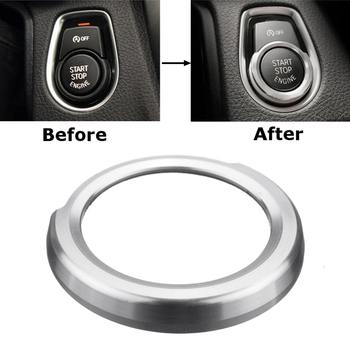 Car Styling Key Start Button Decorative Frame Interior Covers stickers Trim For BMW 1 2 3 4 X1 Series F20 F21 F30 X1 F48 Accesso image