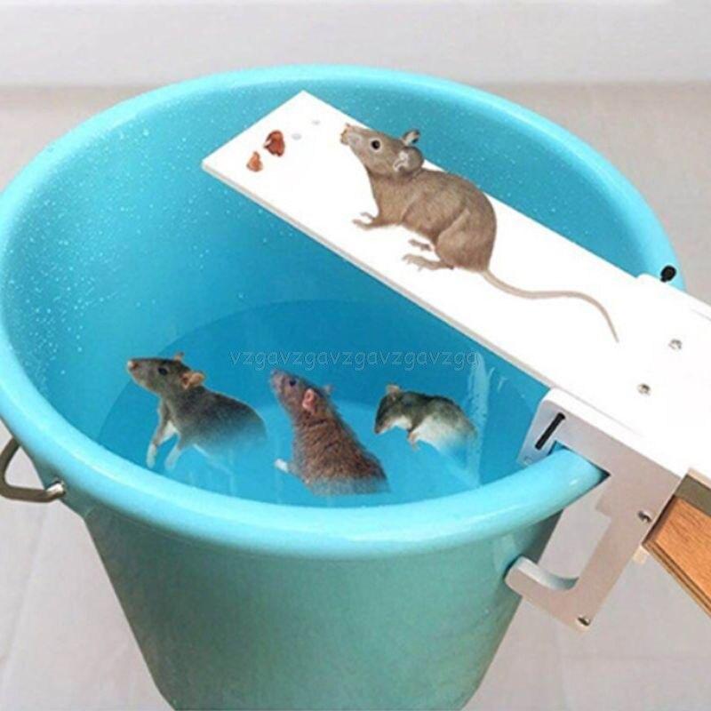 Paseo por la tabla ratón trampa ratones jaula rata trampa Auto reinicio roedor balde Board Jy02 19 Dropship Hogar automático continua ratonera reutilizable gran trampa para ratones jaula de roedores de gran efecto