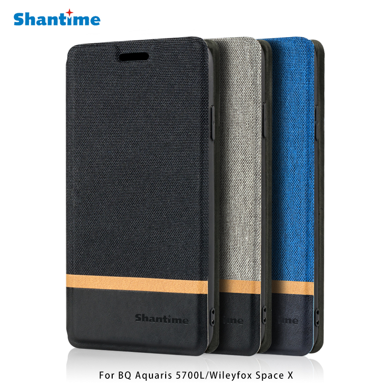 Canvas PU Leather Phone Bag Case For <font><b>BQ</b></font> Aquaris <font><b>5700L</b></font> Flip Case For Wileyfox <font><b>Space</b></font> <font><b>X</b></font> Business Case Soft Silicone Back Cover image