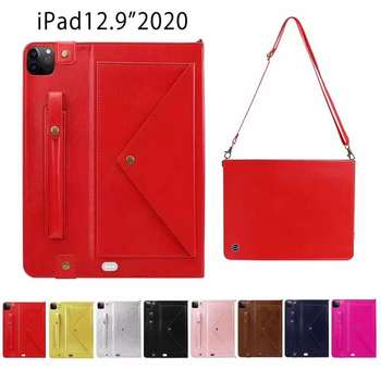 """For iPad Pro 11"""" 2020 Case Smart Wake Sleep Pen Holder Leather Tablet Anti-fall shoulder bag for iPad Pro 12.9 Case 2020"""