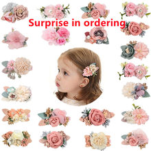 Children's Hair Accessories Artificial Flower Hair Pins Hair clip Princess Hair Pins Lovely hair clip 2021 Hot Style Sale