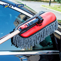 Car Wash Brush Cleaning Mop Microfiber Cloth Telescopic Alloy Handle Car Cleaning Tool Dust Removal Brush Car Accessories Xammep