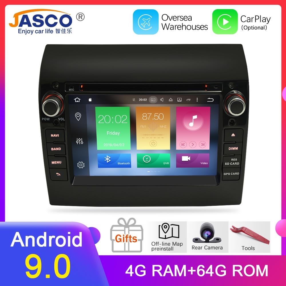 Novo Link 4 Ram 9.0G Android 9.1 Stereo Car Para Fiat Ducato Jumper Boxer 2GB de RAM DVD Unidade Central bluetooth GPS de Navegação TDA7851