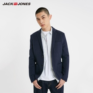 Image 4 - JackJones Mens Slim Fit Two button 100% cotton Blazer Basic Style Suit Jacket Menswear 219108509