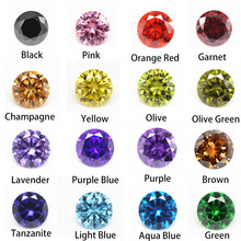 1.0~10.0mm AAAAA Various Color Loose Cubic Zirconia Stone Round Brilliant Cut CZ Stone Synthetic Gems For Jewelry Free Shipping