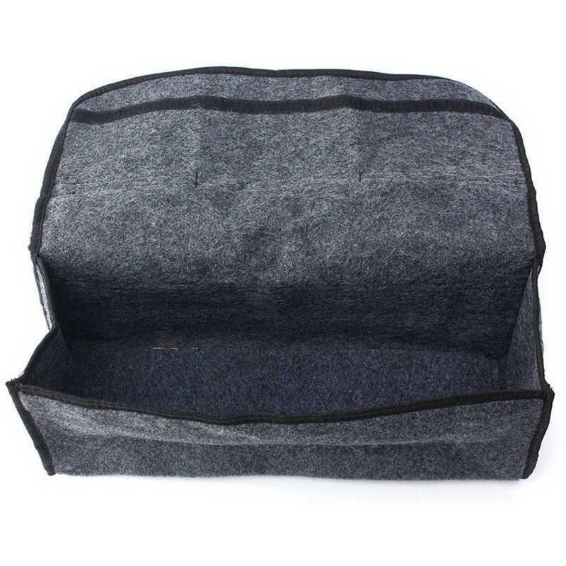 Faroot Draagbare Duurzaam Vilt Doek Grijs Grote Anti Slip Kofferbak Boot Storage Organiser Case Tool Bag Holder