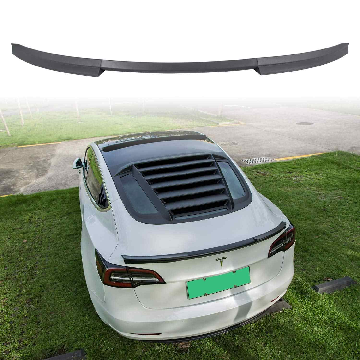 Carbon Fiber Pattern Tail Wing Rear Spoiler Trunk Cover Trim for ...