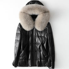 2020 женское модное пальто из натуральной овечьей кожи с воротником