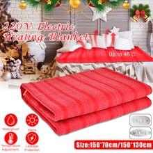 Моющаяся электрическая Одеяло 110 V-220 V Водонепроницаемый Температура Регулируемый теплые обогреватели кровать USB грелка коврик с подогревом двойной один