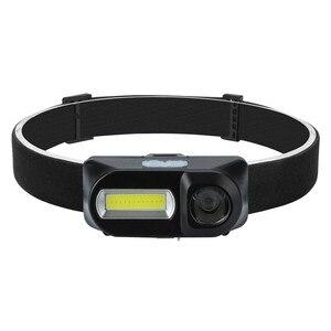 Image 5 - 1 шт. XPE LED COB светодиодный 6 режимный фар ремни регулируемые фары Перезаряжаемые Головной фонарь мероприятий на свежем воздухе Применение 18650 батарея