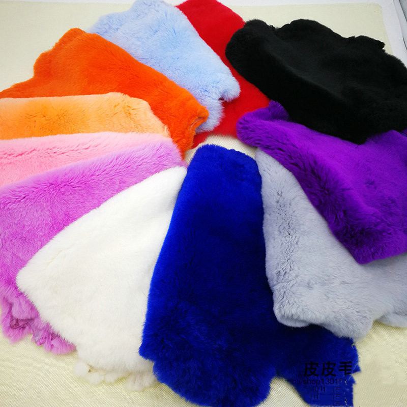 High Quality Classic Color Real Rex Rabbit Fur Pelt Real Genuine Rabbit Fur Diy Fluffy Leather Fur Wholesale Diy Home Decoration