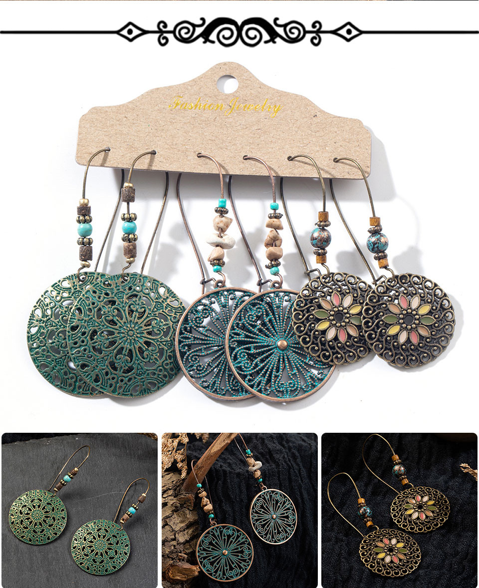 Ha70dc92994544049a13bb06d05f611f5L - Multiple Women's  Boho Ethnic Drop Earrings