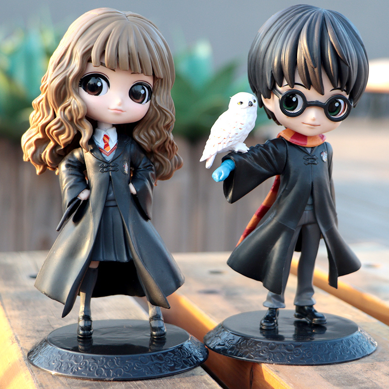 Miniko Cute Big Eyes Harried Hermione Snape PVC Anime Dolls Collectible Potter Action Figure Q Version Model Toy