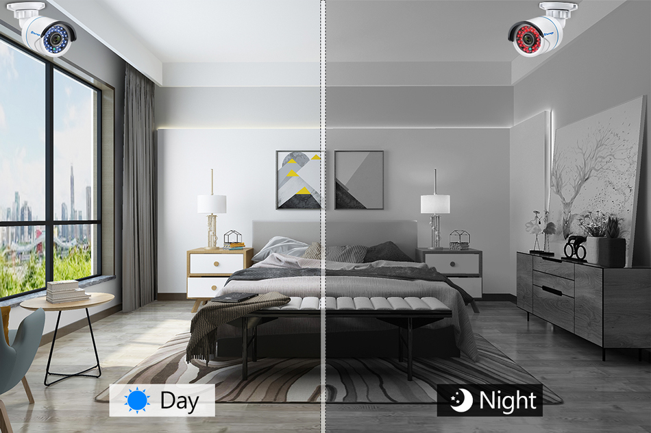 Image 5 - Techage 8CH 1080P NVR комплект POE безопасности наружная Водонепроницаемая камера система 2MP аудио IP Камера IR Cut CCTV комплект видеонаблюденияСистема наблюдения    АлиЭкспресс