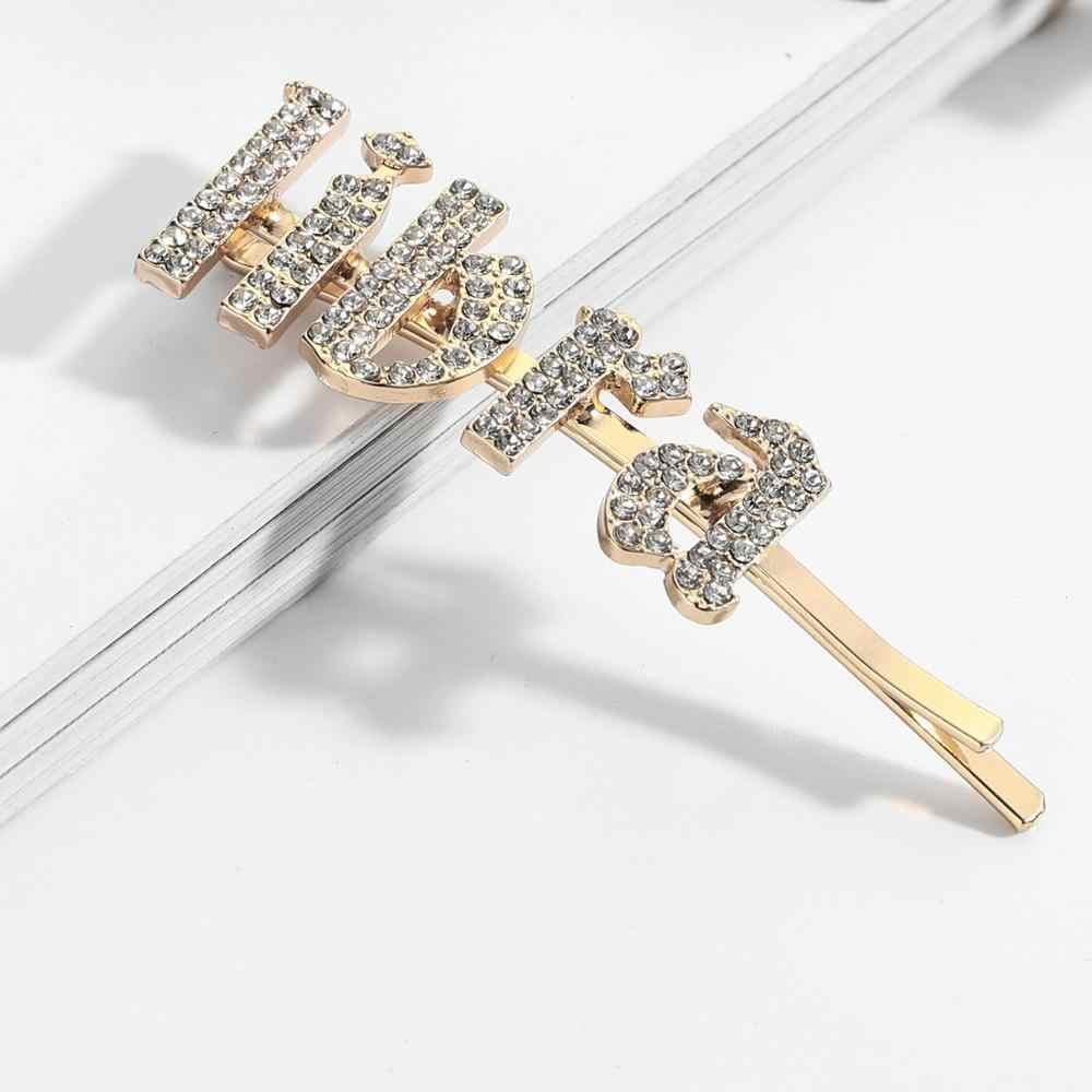Baru Semua 12 Zodiac Pin Rambut Tren Baru Rhinestones Membuka Klip Rambut Jepit Pernikahan Crystal Bling Bridal Styling Jepit