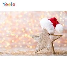 Yeele Christmas Backdrop Winter Snow Hat Light Bokeh Newborn Baby Photography Background For Photo Studio Photobooth Photophone