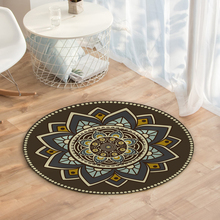Morocco Round Area Rug Crystal Velvet home Mat Dining Room Carpet Soft Floor decor 50cm*50cm  D35