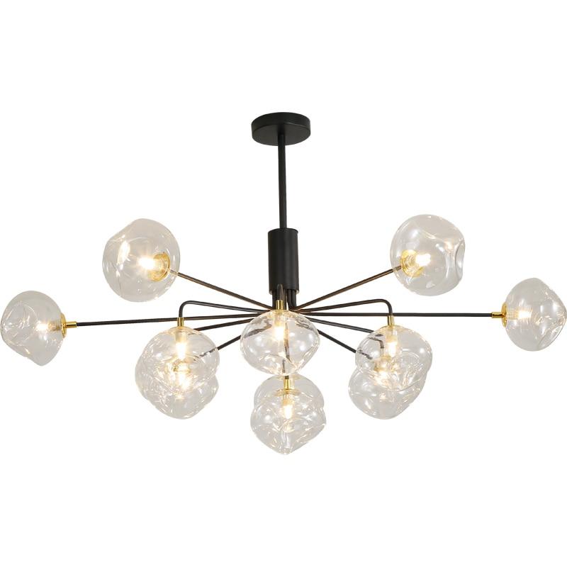 modern led chandelier nordic living room creative magic bean lamp molecular chandelier home restaurant glass balls chandelier