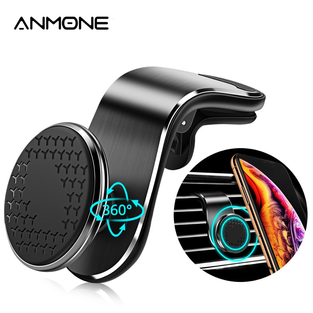 ANMONE Universal Magnetic Car Phone Holder For Phone In Car Mobile Support Phone Mount Stand For Tablets And Smartphones