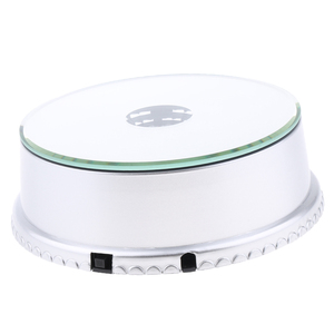 Image 5 - LED Mirrored Display Base Electric Rotating Turntable Phones Bags Show Stand for Camera Phone Digital Product