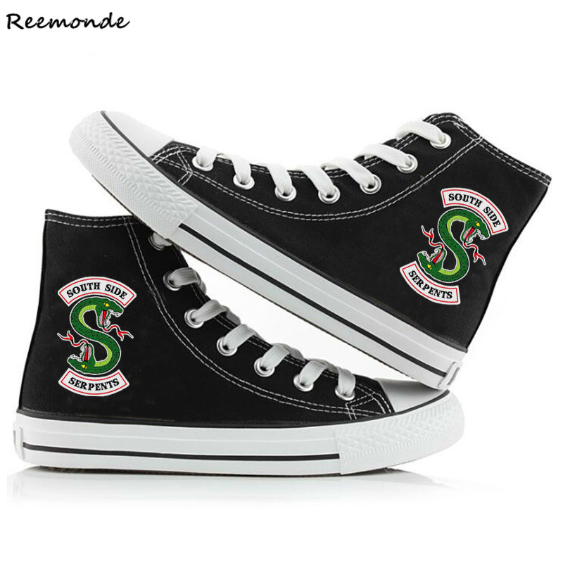 South Side Serpents Riverdale Shoes Southside Printed High Canvas Shoes Casual Leisure Sneakers Shoes Riverdale Serpents Women