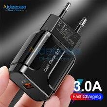 5 в 3 А 18 Вт QC3.0 USB быстрая зарядка настенный мобильный телефон быстрое зарядное устройство адаптер EU/US Разъем для iPhone samsung Xiaomi huawei
