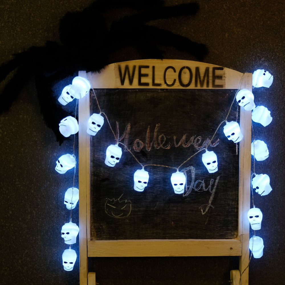 Led Halloween Halloween Decoratie 2 Meterslamp Halloween Skull String Lamp