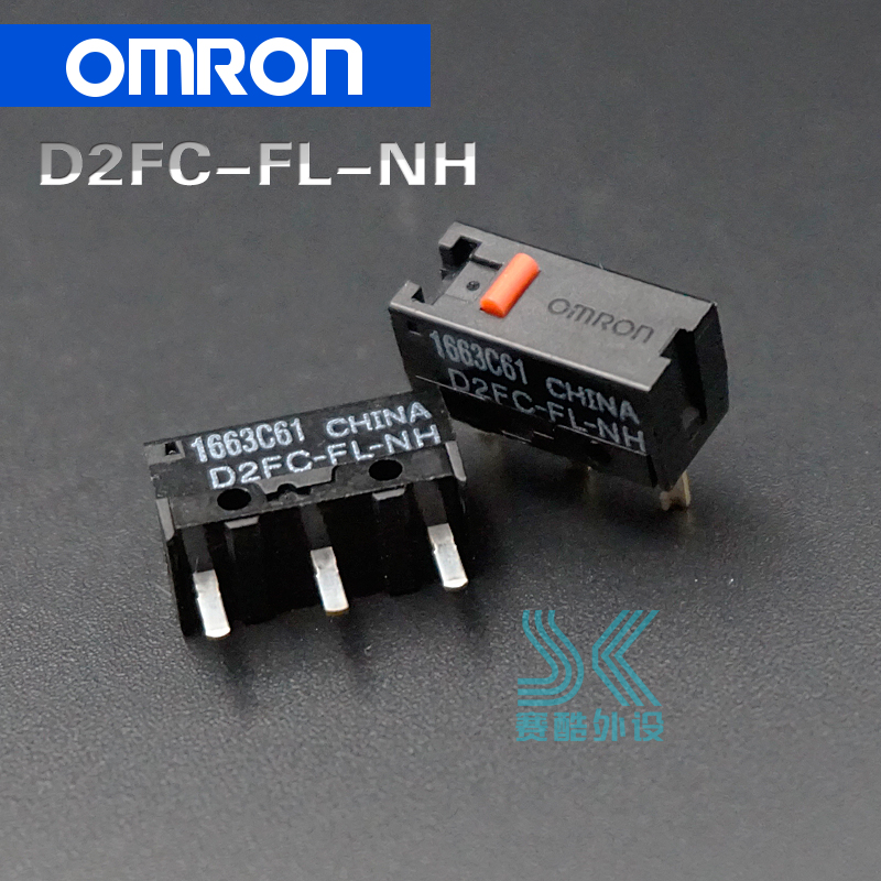 OMRON Mouse Micro Switch D2FC-FL-NH Suitable For Steelseries Rival 100 300 KANA KINZU Logitech Microsoft IO1.1 IE3.0 RAZER 2pcs