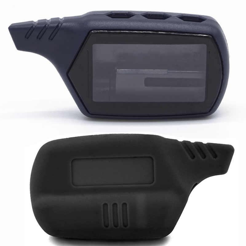 B9 A91 Bao Silicone Chìa Khóa và 2 Cách Báo Động Xe Hệ Thống MÀN HÌNH LCD Điều Khiển từ xa Móc Khóa Starline B9 B6 A91 a61 Key Fob Dây Chuyền