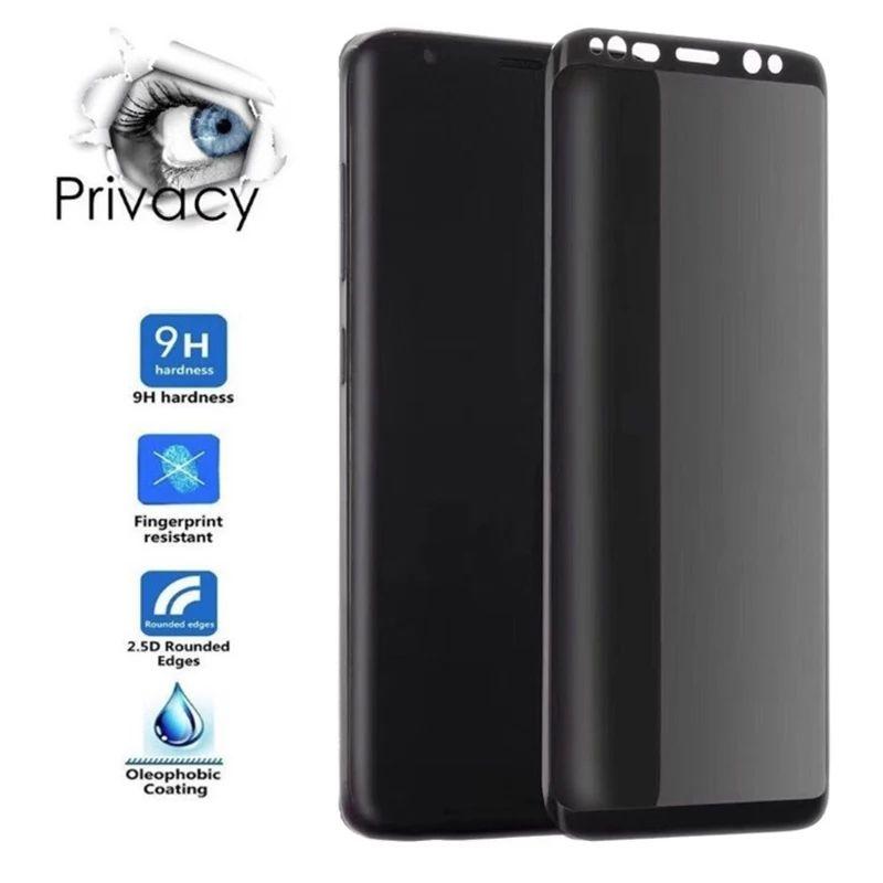 Изогнутое противошпионское закаленное стекло для Samsung Galaxy S20, S10, S9, S8, S10 Plus, S10E, S20Ultra, защитная пленка для экрана, антишпионская пленка Защитные стёкла и плёнки для телефонов      АлиЭкспресс