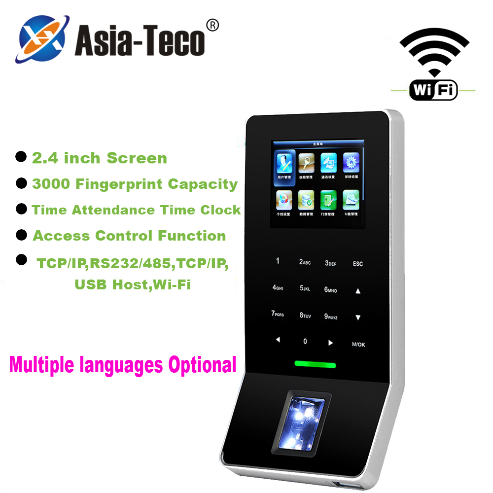 2.4 Inch LCD Biometric WIFI Fingerprint Access Control Time Attendance System TCP/IP RJ45 Fingerprint Reader ZK F28