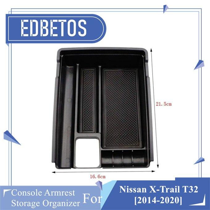 For Nissan Rogue 2014-2019 Interior Armrest Storage Box Organizer Holder