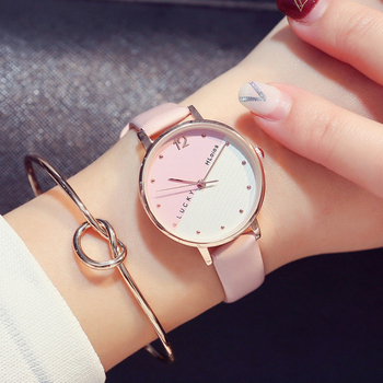 2020 The Women Luxury Watches New Hot Creative Watch Leather Strap Wrist Fashion Contracted Casual Quartz Watch Clock Gift
