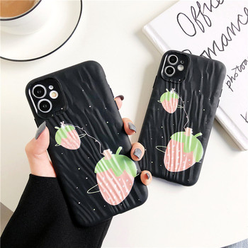 Cute Strawberry pink Pattern Cases P20 P30 Pro Lite Mate 20 Pro Honor 9X pro 20 nova 4 Phone Case Soft Cover Cartoon Silicone tanie i dobre opinie VIVIAUG Zderzak Huawei Matowy Zwykły