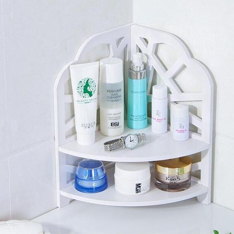 Hot Sale Desktop Cosmetics Organizer Bathroom Storage Rack Corner Shelf