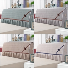 Headboard Cover Bed-Head Decor Solid Home with Skirt Dustproof Back-Protector Bedroom