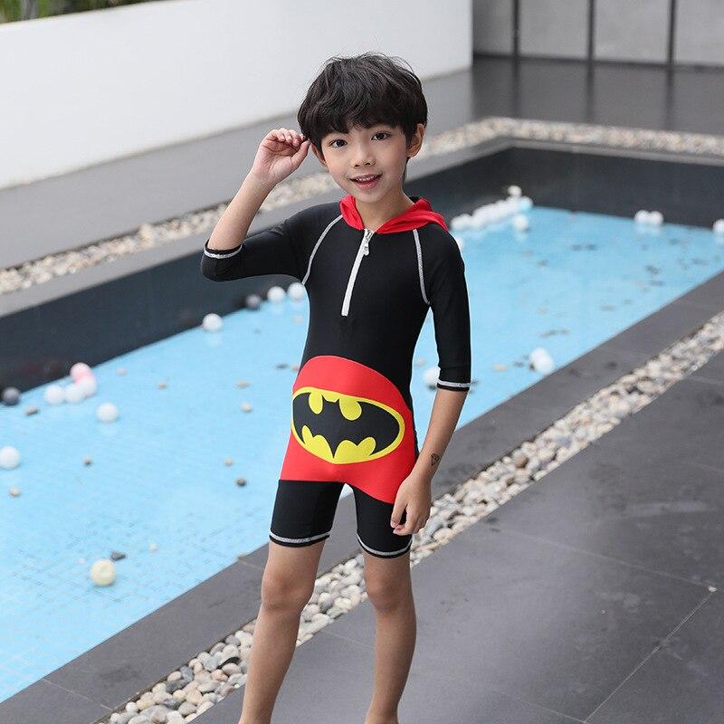 One-piece Swimsuit For Children Men And Women Children Sun-resistant Quick-Dry Boy One-piece Batman Cute Cartoon Baby Swim Bathi