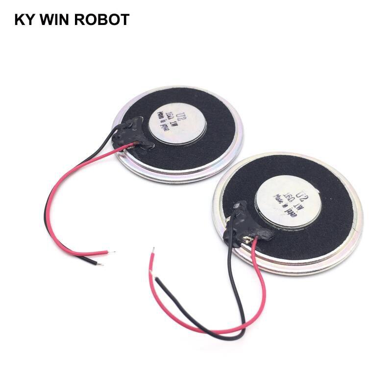 2pcs/lot New Ultra-thin Mini Speaker 16 Ohms 1 Watt 1W 16R Speaker Diameter 40MM 4CM Thickness 5MM With Wire