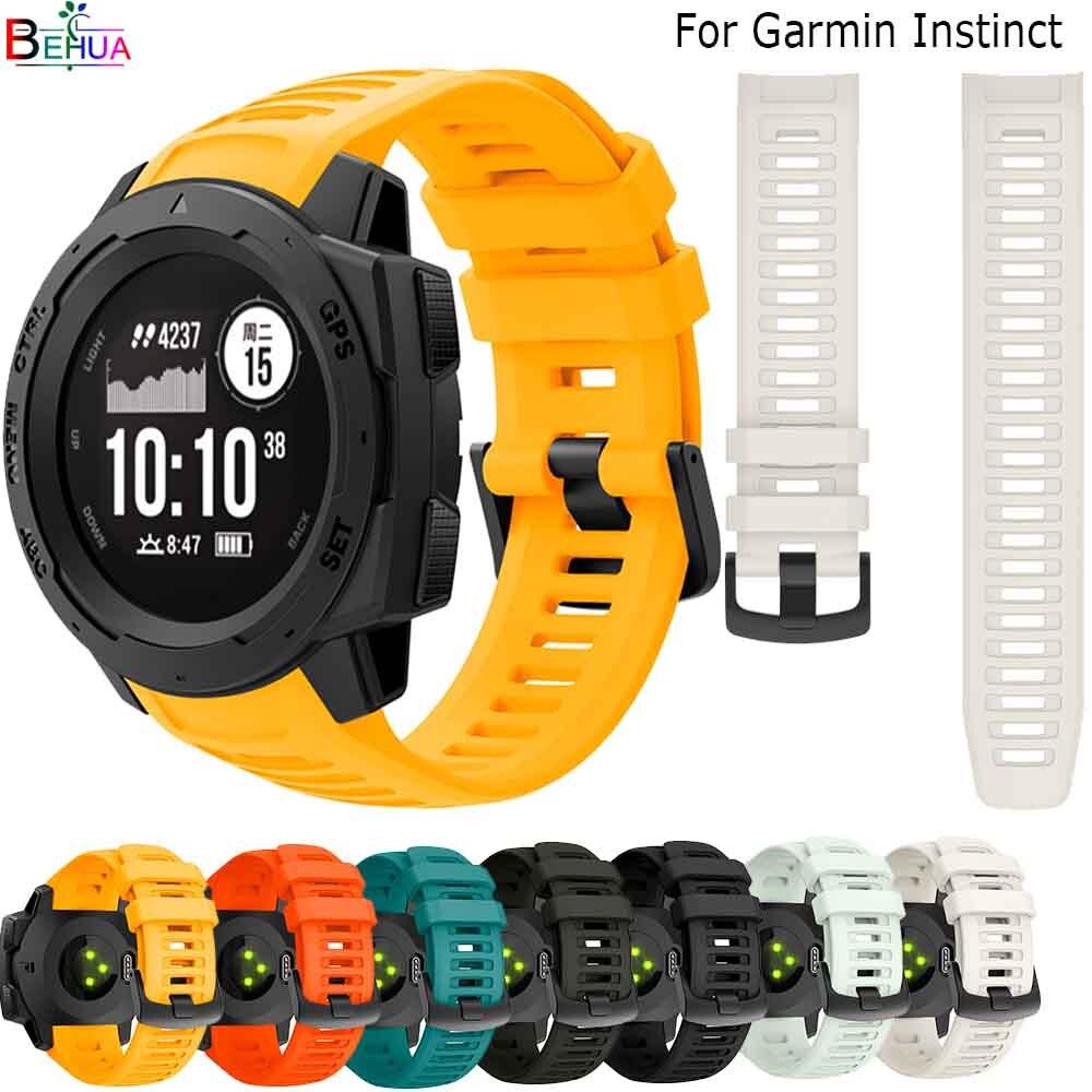 22mm Sporting Good Watch Band Strap for Garmin Instinct Watch Wirstband Bracelet durable Silicone smart Watch band Accessories