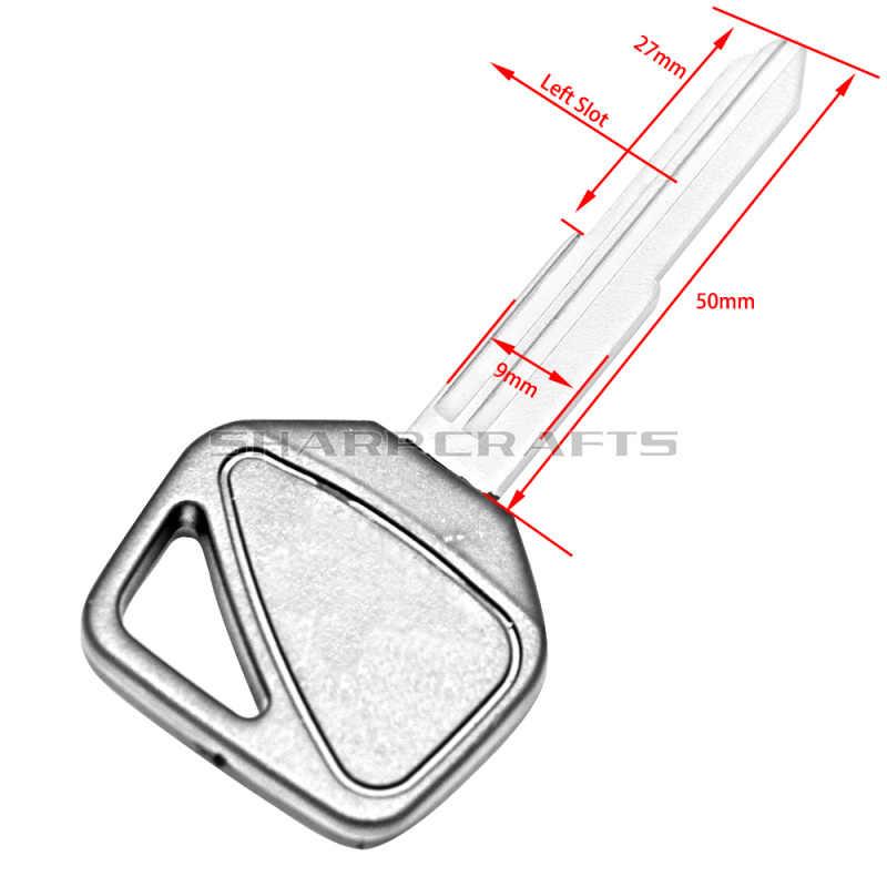 Lâmina para peças de motocicleta, lâmina sem corte para chave em branco honda cbr600 f5 cbr900 cbr954 vfr800 cbr1000rr vtr1000 _cb1300