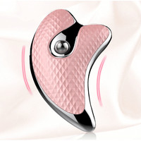 Mini electric dolphin micro current scraper electric vibration heating beauty instrument facial lifting massage face artifact