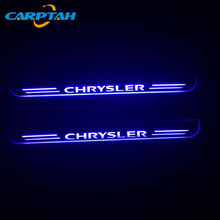 CARPTAH Car Exterior Parts LED Door Sill Scuff Plate Pathway Dynamic Streamer light For Chrysler 300 300C SRT8 SRT-8 2005 - 2018